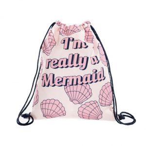 Mermaid trekkoord rugtas