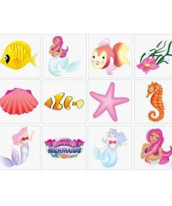 Zeemeermin-tattoos voor kinderen