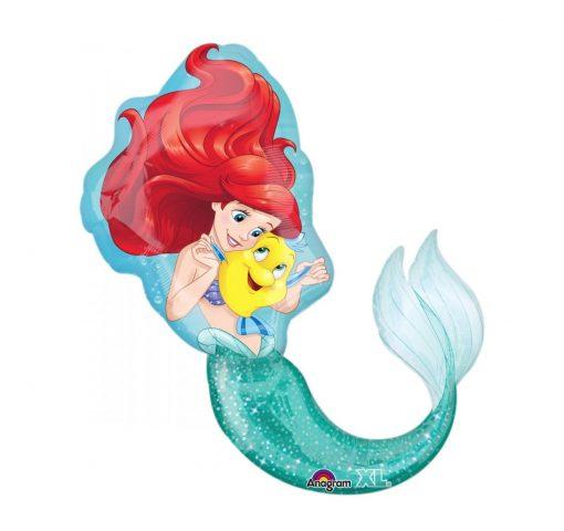 Ariel kleine zeemeermin folie ballon