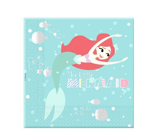 Ariel kleine zeemeermin servetten