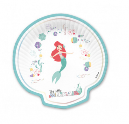 Ariel kleine zeemeermin schelp bord