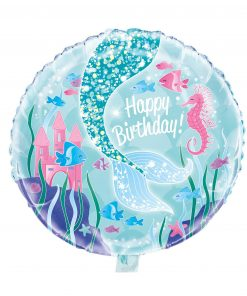 Zeemeermin folie ballon Happy Birthday