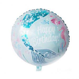 Zeemeermin folie ballon rond
