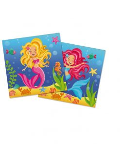 Zeemeermin-servetten voor mermaid party