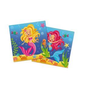 Zeemeermin-servetten voor mermaid party