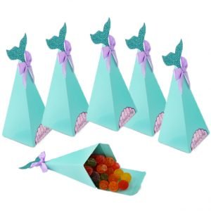 Zeemeermin snoep bakjes kinderverjaardag of babyshower