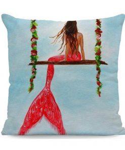 Mermaid kussen hoes op schommel