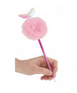 Zeemeermin fluffy pen, lekker zacht
